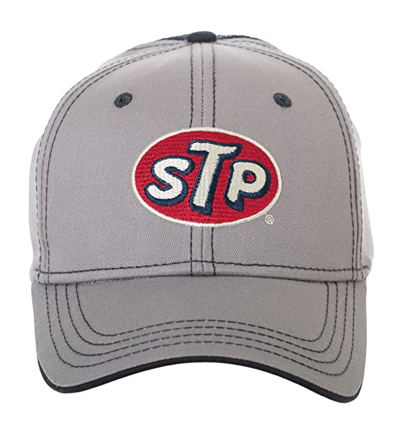 Amazon.com  STP Supreme Motor Oil Racing Style Cap Hat - Official Product  (Gray Mesh)  Clothing 2540b15a76d