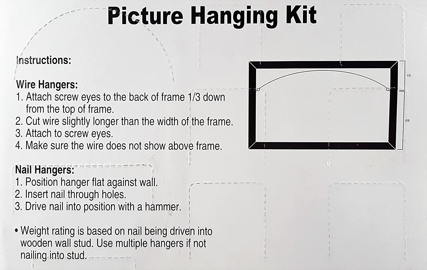 Amazon.com: Picture Hanging Kit Clip Strip: Office Products