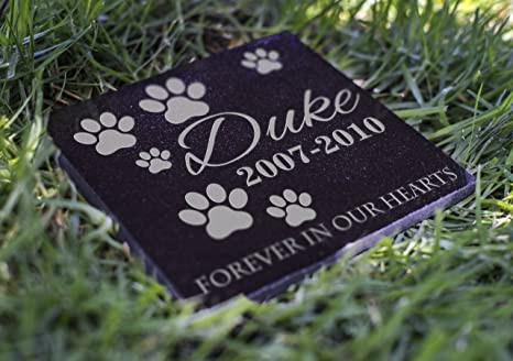 Memorial Pet Headstone Loyal Companion Dog And Cat Personalized Custom Granite Grave Marker