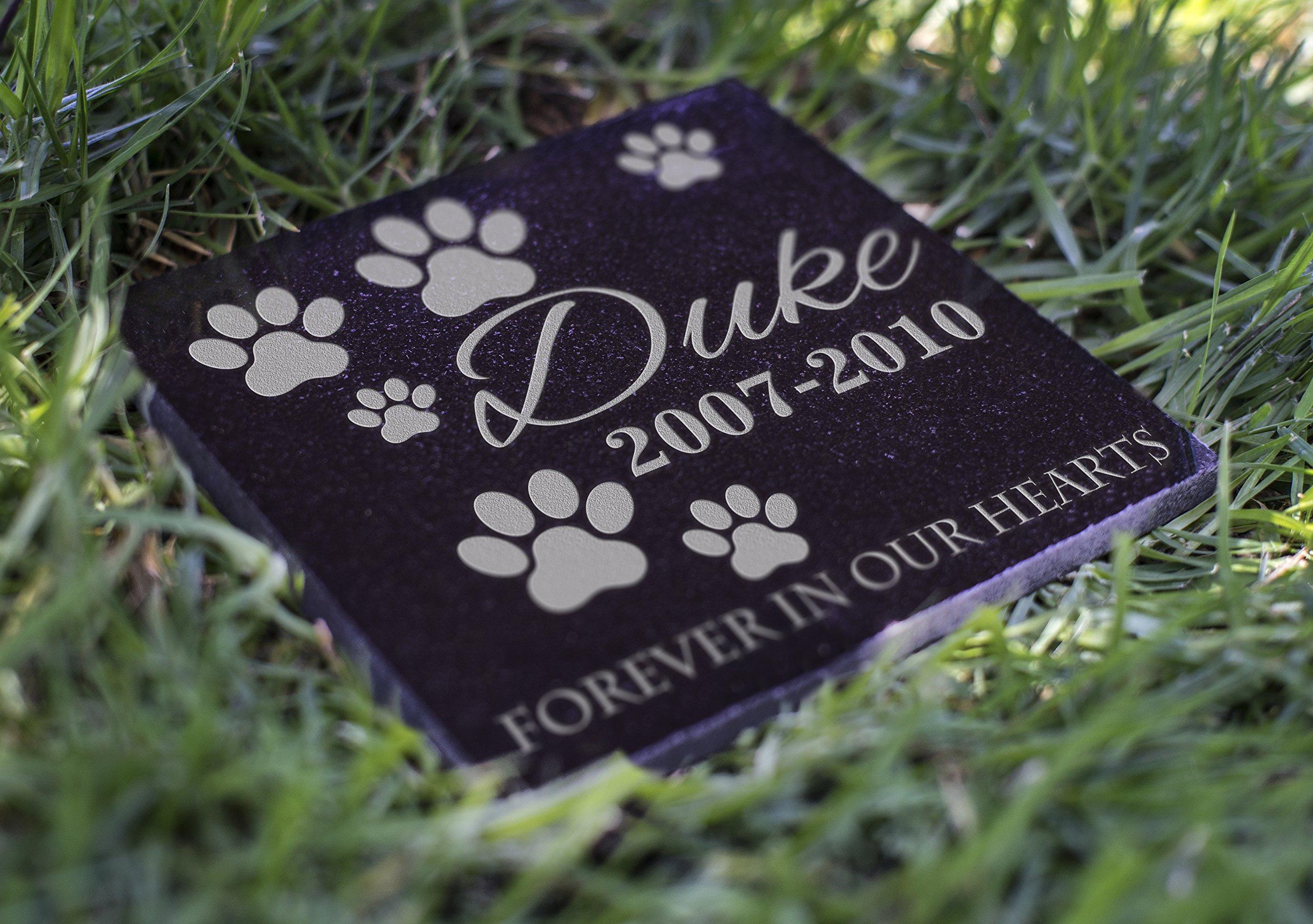 Memorial Pet Headstone - Loyal Companion, Dog and Cat Personalized Custom Granite Grave Marker D-4
