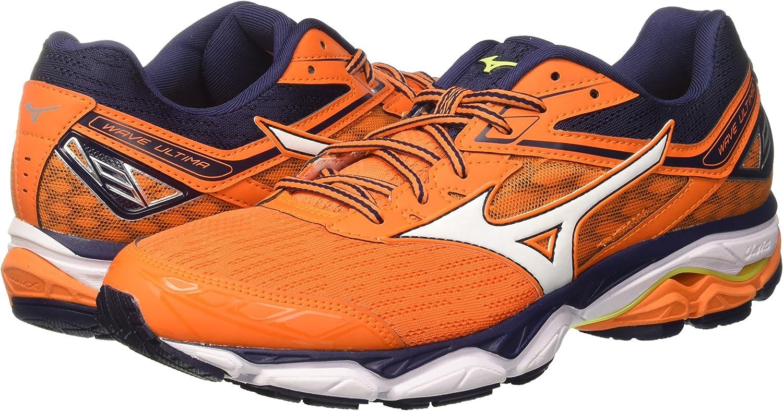 Mizuno Wave Ultima 9, Zapatillas de Running para Hombre, Multicolor (Vibrantorangewhitepeacoat), 41 EU: Amazon.es: Zapatos y complementos