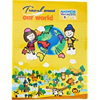 My Kids Magnet Travel Around World Magnetic Map Puzzle Book, 60 cm Length x 39 cm Width