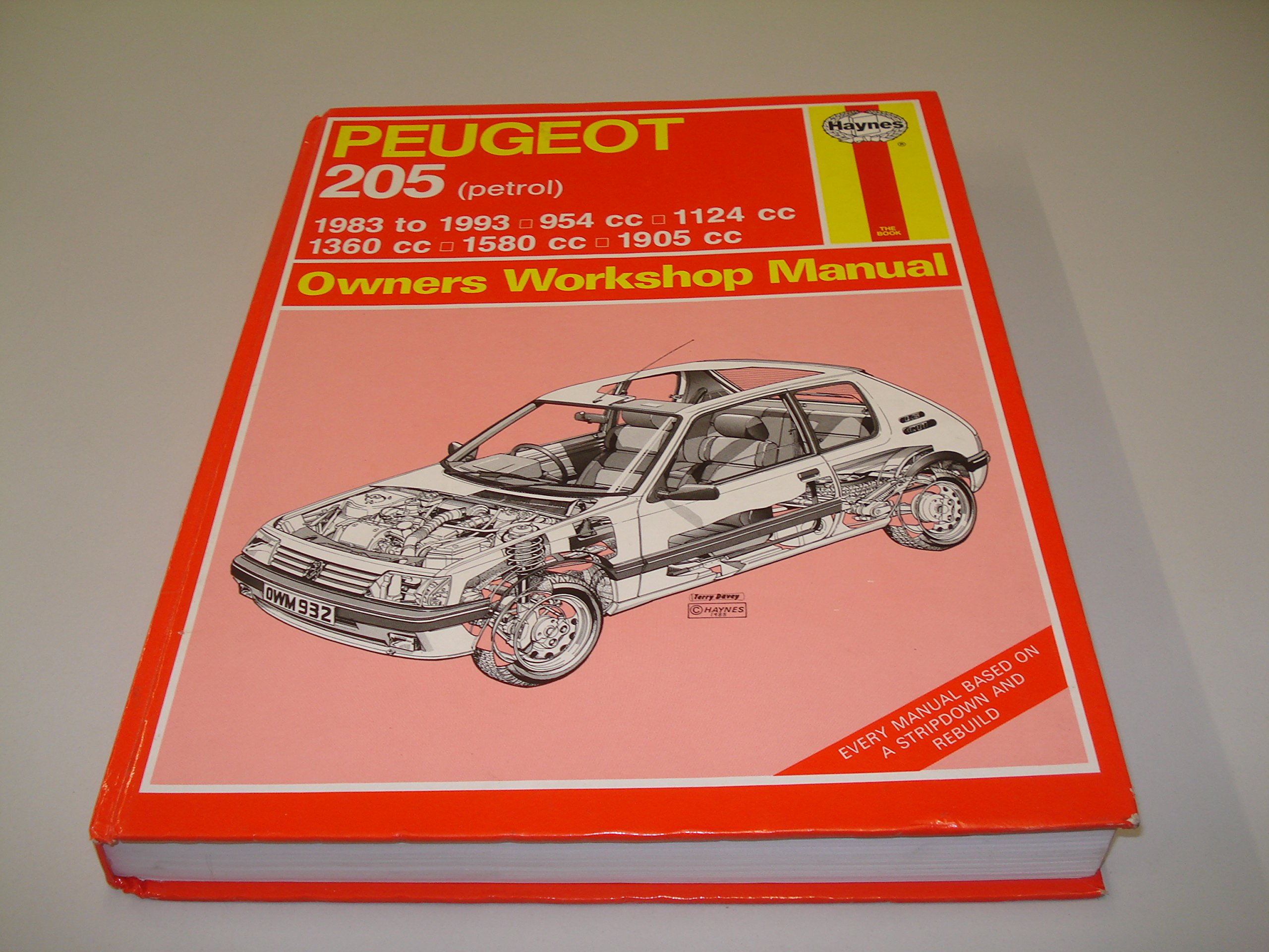 Peugeot 205 Owners Workshop Manual (Haynes owners workshop manual series): A. K. Legg: 9781850109150: Amazon.com: Books