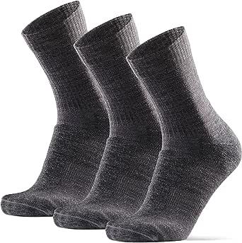 Calcetines Ligeros de Senderismo y Trekking de Lana Merina, para Hombre y Mujer, Primavera e Verano, Transpirables, Acolchados y Anti-rozaduras,Calcetines Cómodos Para Caminar, Pack de 3
