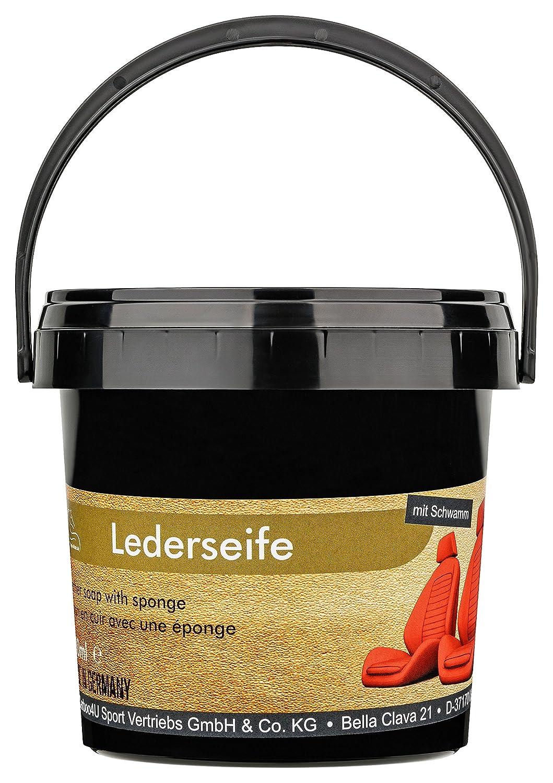 Jabón para piel, de Equi-Deluxe; de eficacia probada, con esponja, para asientos de coche, bolsos de piel y otras pieles lisas y brillantes, de 500 ml
