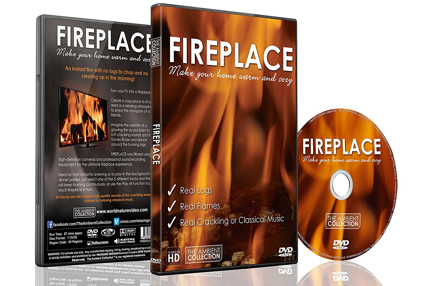 Amazon com: Fireplace DVD - Fireplace 2016 Filmed in High Definition