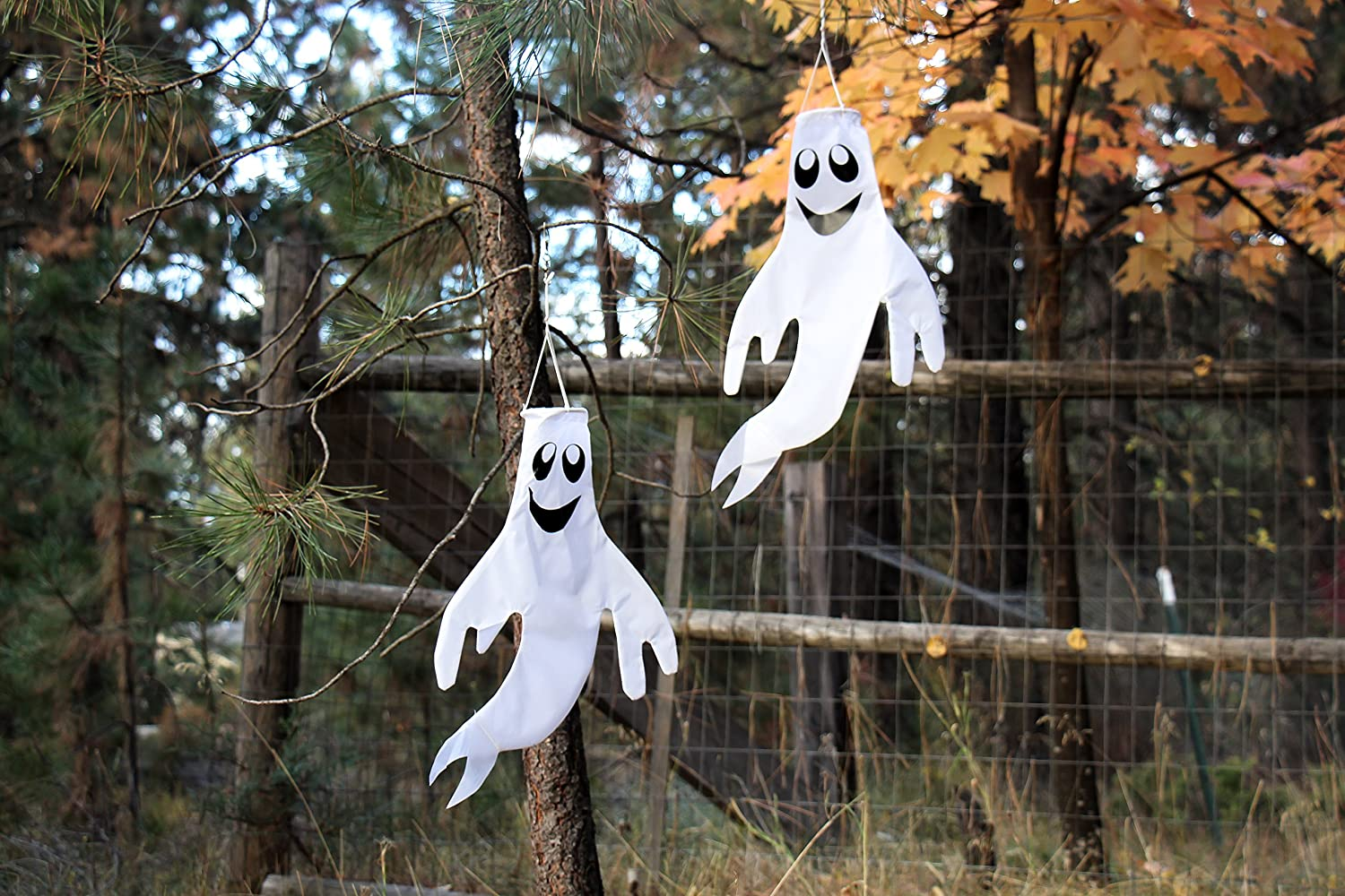 In the Breeze Small 18 inch Ghost Windsock Halloween Hanging Decoration