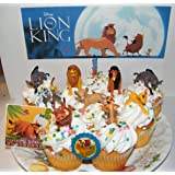 The Lion King Movie Deluxe Cake Toppers Cupcake Decorations 12 Set with 10 Figures, Movie Sticker and LKRing Featuring…