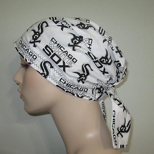 cb7b1349587ff Amazon.com  Scrub Cap Chicago White Sox Chemo Hat  Handmade