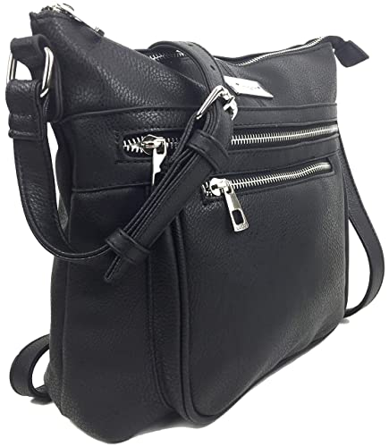 eceb28abb557 Designer Handbags for Women Stylish Multi Pocket Cross Body shoulder Bag in  Premium Soft & Supple Grained Vegan Leather with Adjustable Shoulder ...
