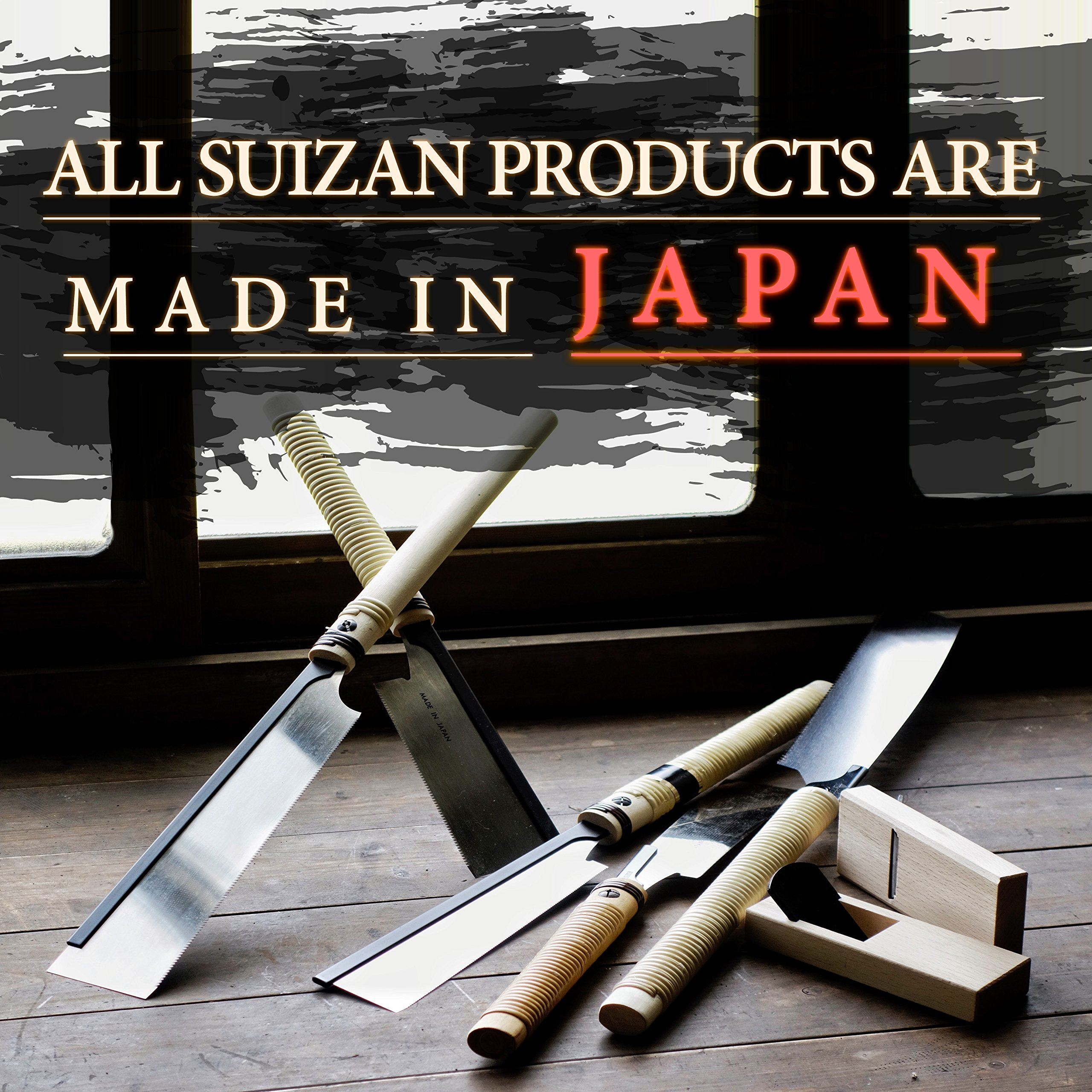 SUIZAN Japanese Hand Saw 8 Inch Ultra Fine Cut Dozuki Dovetail 0.2mm Blade Pull Saw for Woodworking by SUIZAN (Image #4)