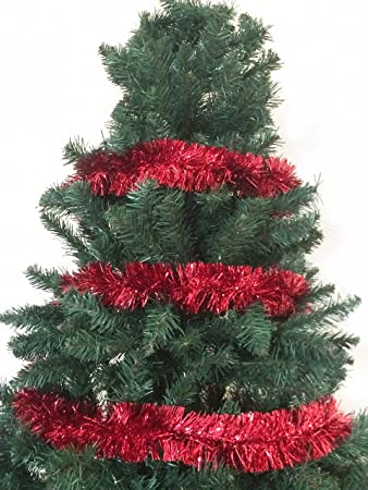 6.58FT Christmas Foil Tinsel Garland Christmas Tree Decoration (Red) - Amazon.com: 6.58FT Christmas Foil Tinsel Garland Christmas Tree
