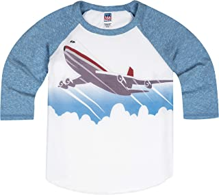 product image for Shirts That Go Little Boys' Jet Airplane Raglan T-Shirt