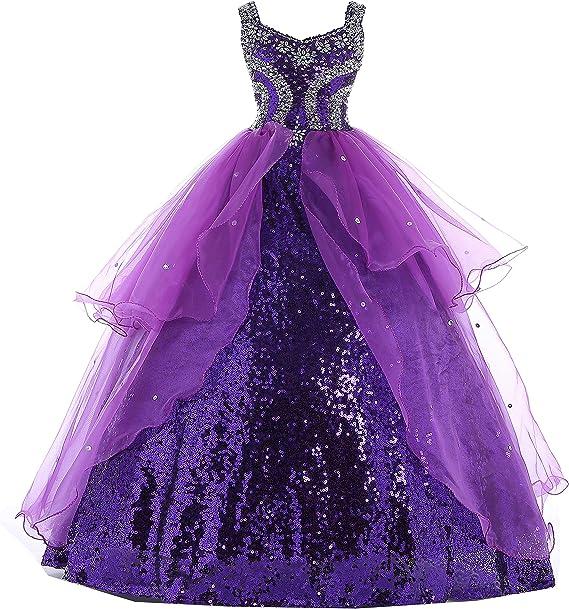 Amazon.com: HuaMei - Vestido de lentejuelas para niña: Clothing