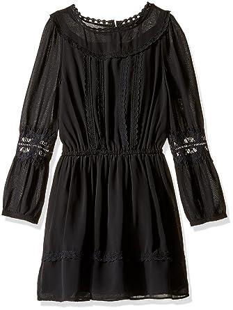 15ad15479d7c Amazon.com  Ella Moss Girls Slim Size Clover Chiffon Dress with Lace ...