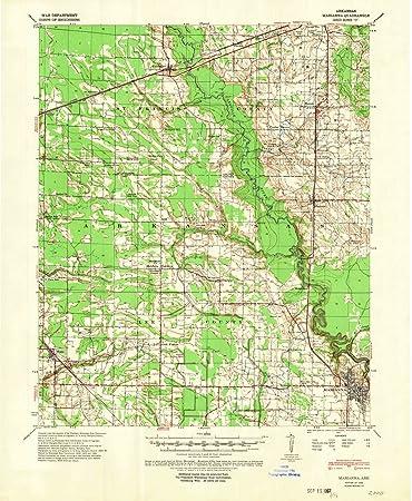 Amazon.com: Arkansas Maps - 1940 Marianna, AR USGS ...