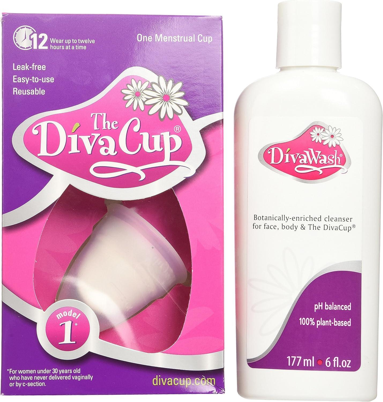 Diva Cup Modelo 1 y Divawash