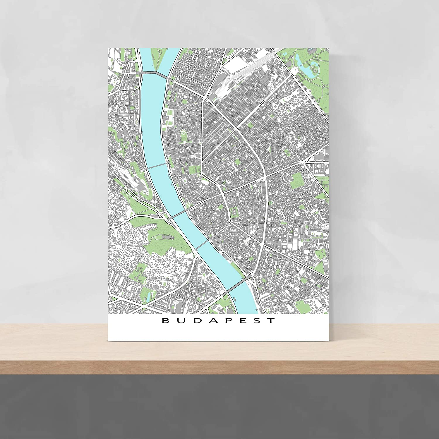 Budapest On Europe Map.Amazon Com Budapest Map Print Hungary Europe Wall Poster