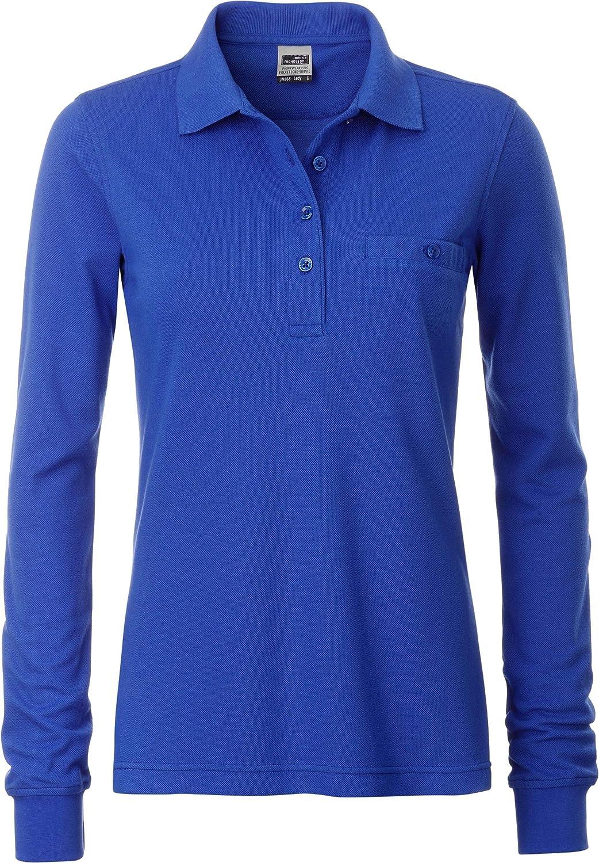 JN 865 Damen Workwear Polo mit Brusttasche Langarm James /& Nicholson