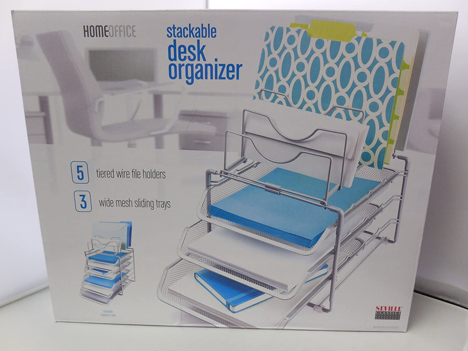 Amazon.com: Seville Classics Home Office Stackable Desk Organizer ...