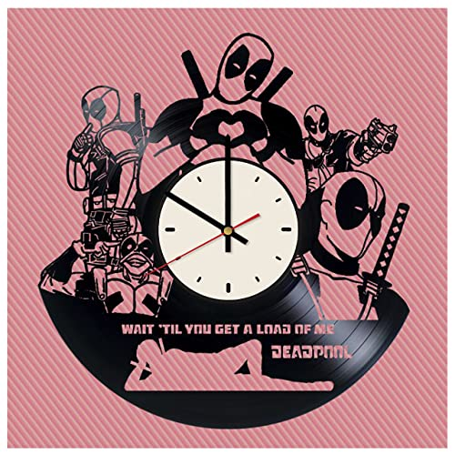 Amazon.com: Deadpool Marvel Comics art decor vinyl record wall clock ...