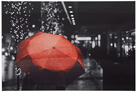 Amazoncom Rivet Red Umbrella In The Black And White City 24 X 16