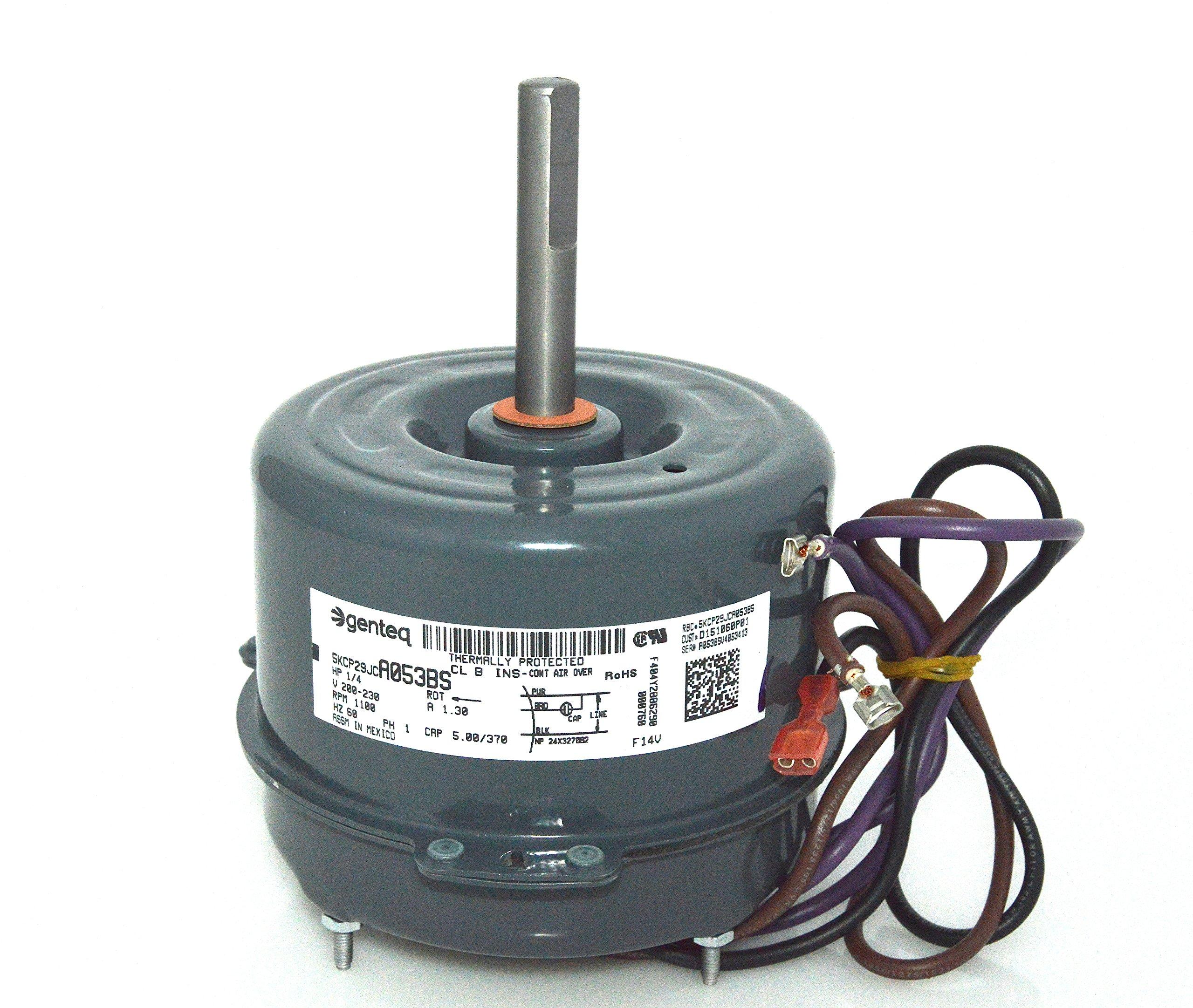 GE Trane Condenser FAN MOTOR 1/4 HP 5KCP29JCA053BS