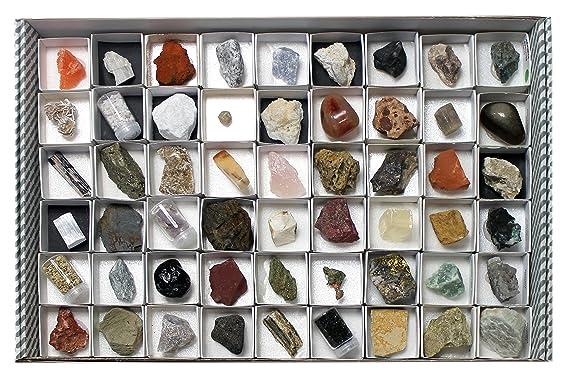 Arcoci Colección de 54 minerales y Rocas: Amazon.es ...