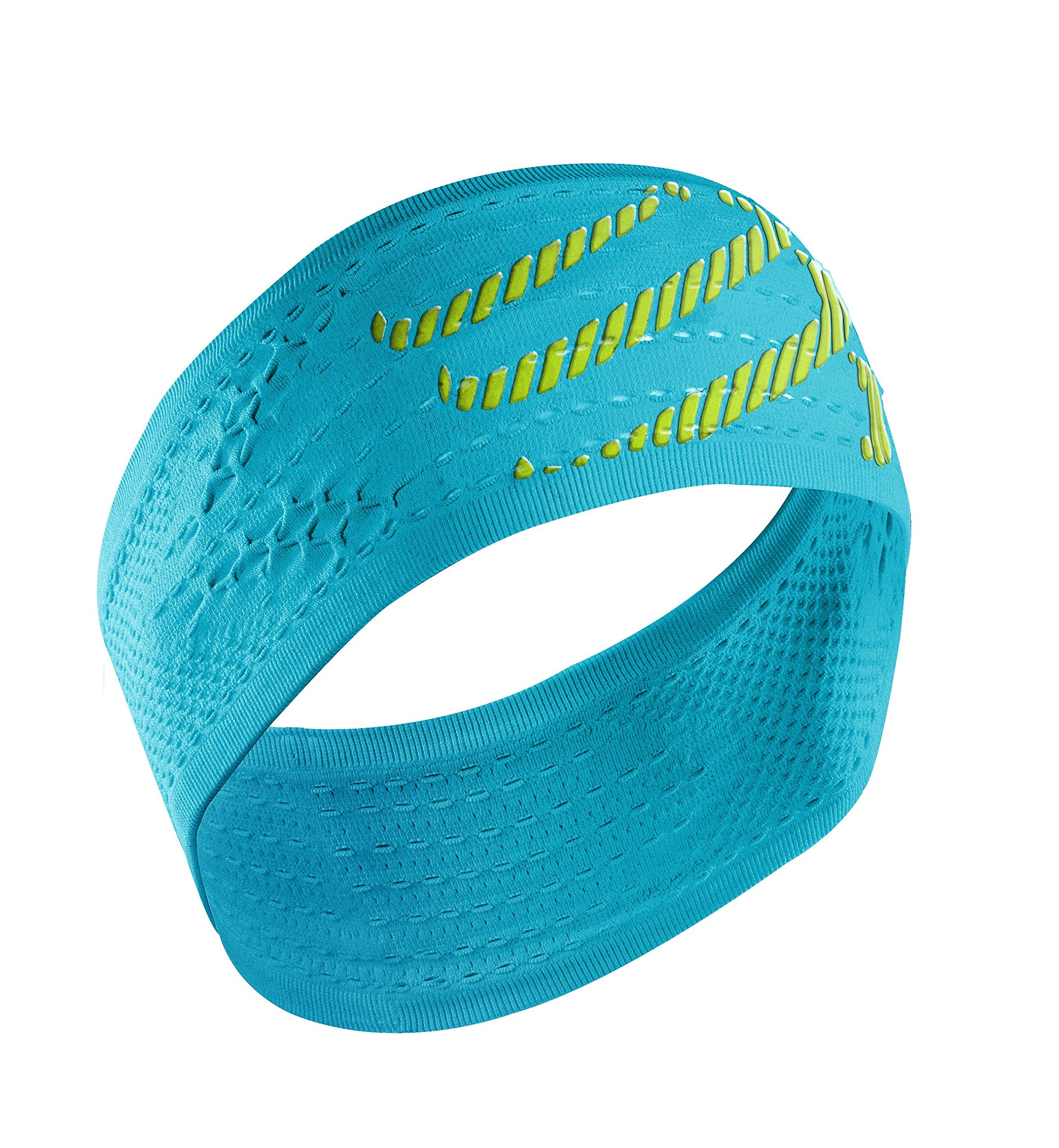 Compressport Headband On/Off Cinta, Unisex, Azul flúor, Talla Única product image