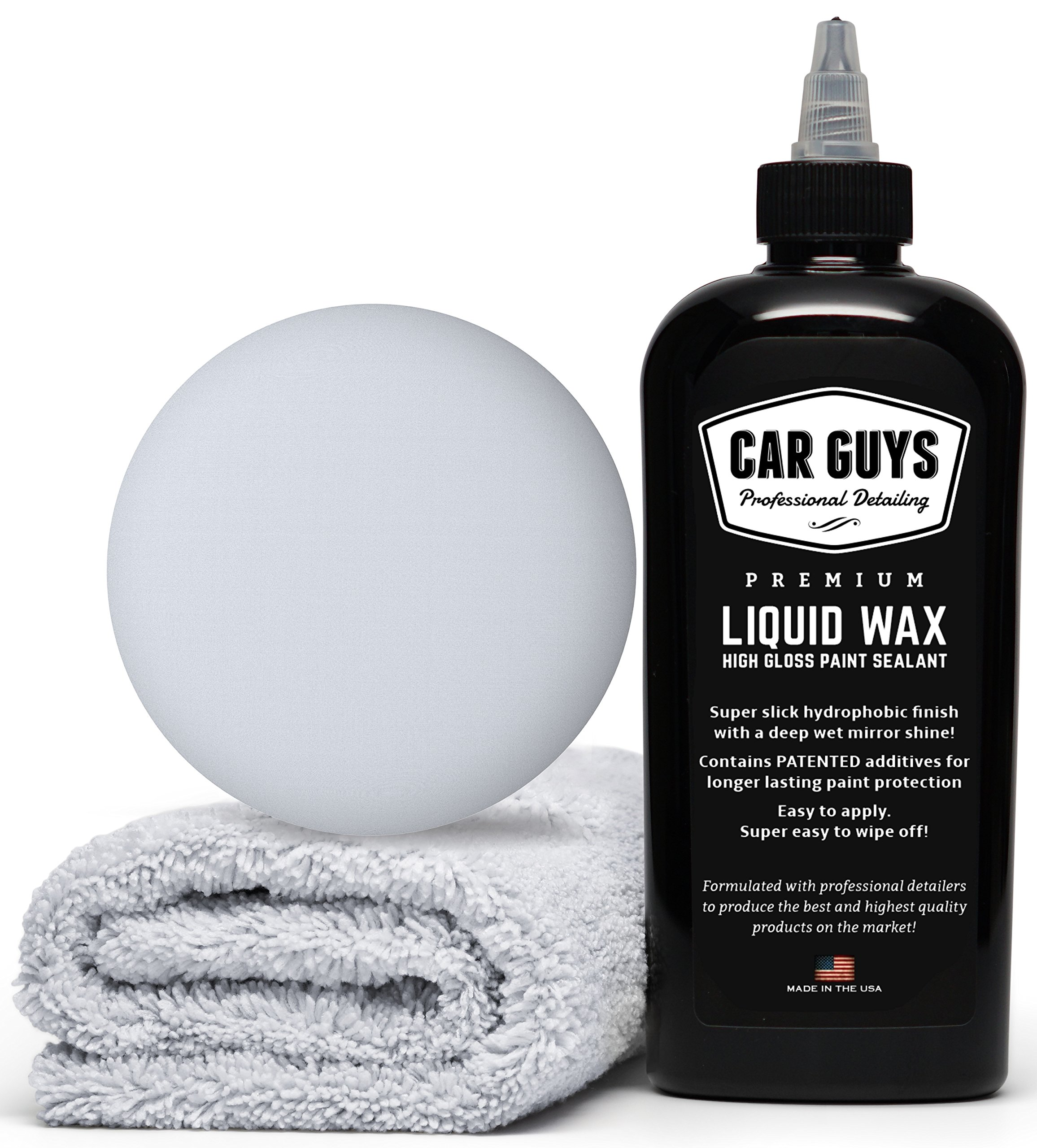 cb9b1890489 CarGuys Liquid Wax - The Ultimate Car Wax Shine with Polymer Paint Sealant  Protection! - 8 oz Kit. By CarGuys. product price 24.97