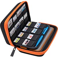 BRENDO Carrying Case for New Nintendo 2DS XL, Includes Large Stylus, Fits Wall Charger, 24 Game Cartridge Case Holder…