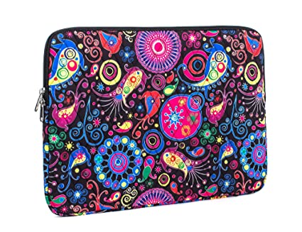 67d1f5a742ac Leaper Fashion Laptop Sleeve 15 Inch 15 Case 15.6 Laptop Bag Notebook  Sleeve Rose-Black