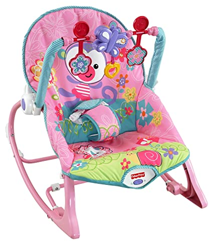 c33eded51d11 Fisher-Price Rainforest Infant Toddler Rocker (Pink)  Amazon.co.uk  Baby
