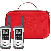 Motorola Talkabout T280 Rechargeable Two-Way Radio Bundle, White