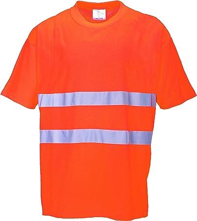 Portwest S172 - Comfort algodón de la camiseta, color naranja ...