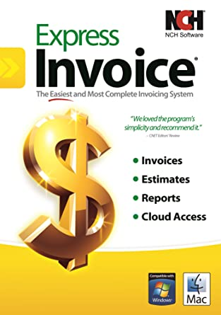 Amazoncom Express Invoice Software For Managing And Tracking - Invoice software windows
