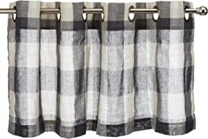"LORRAINE HOME FASHIONS, Gray, Courtyard Grommet Window Curtain Valance, 53"" x 18"""