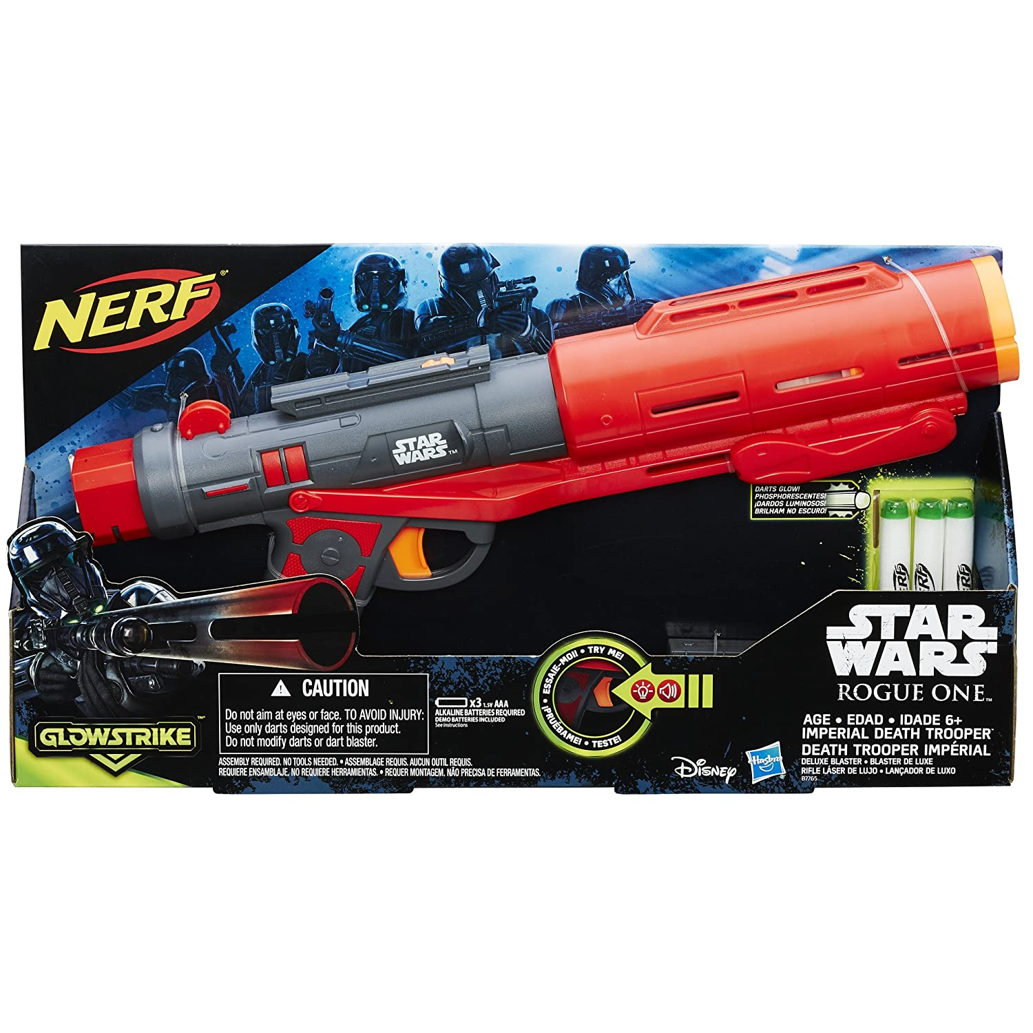 Amazon Star Wars Rogue e Nerf Imperial Death Trooper Deluxe Blaster Toys & Games