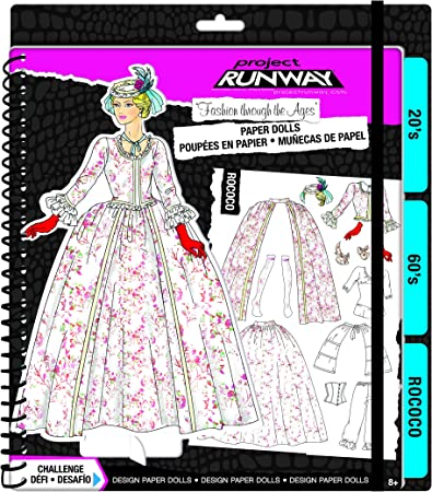 Amazon Com Fashion Angels Project Runway Fashion Through The Ages Paper Dolls Kit Toys Games