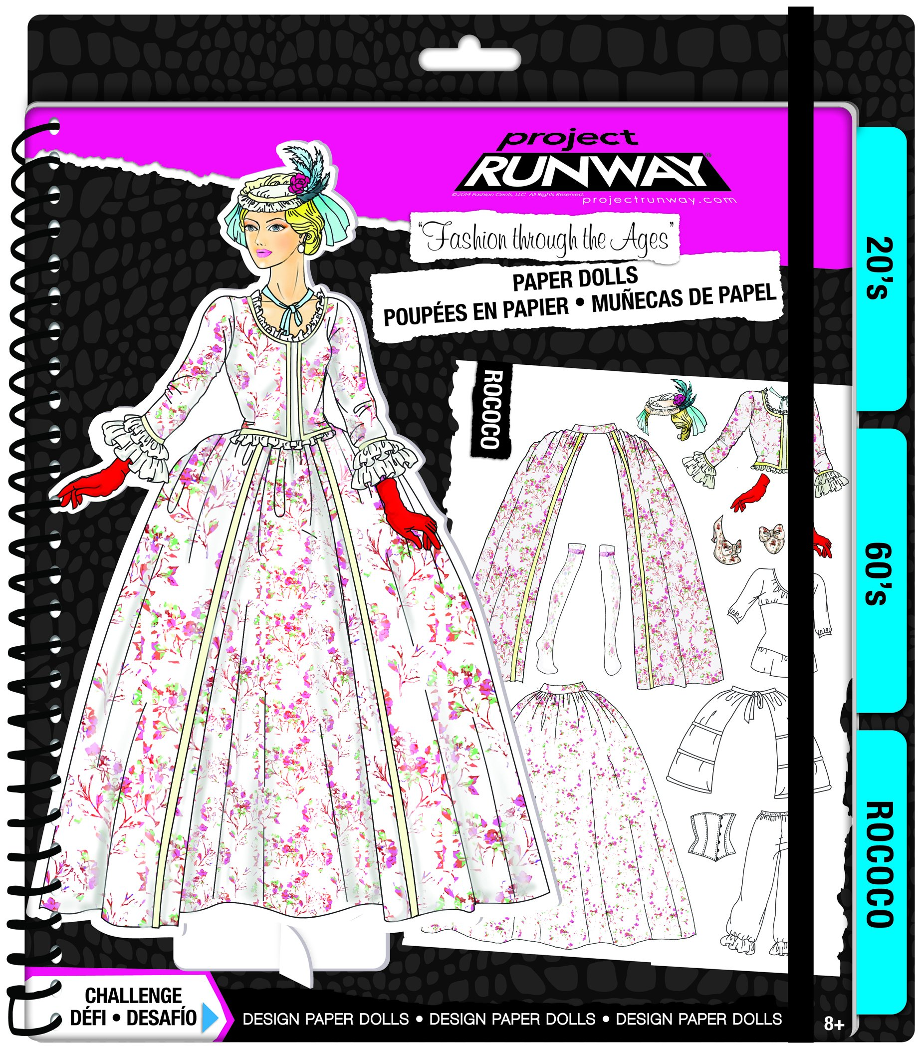 Fashion Angels Project Runway ''Fashion Through the Ages'' Paper Dolls Kit