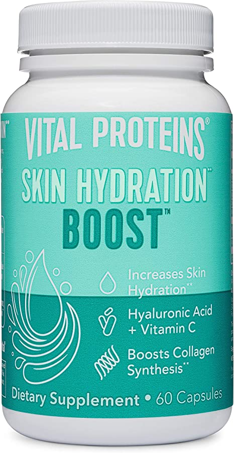 Hyaluronic Acid Supplement with 120mg of Hyaluronic Acid 150 mcg of Biotin and 180mg of Vitamin C - 60 Capsules