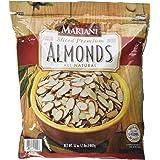 Mariani Sliced Premium Almonds All Natural, 2lbs (2 Packs)