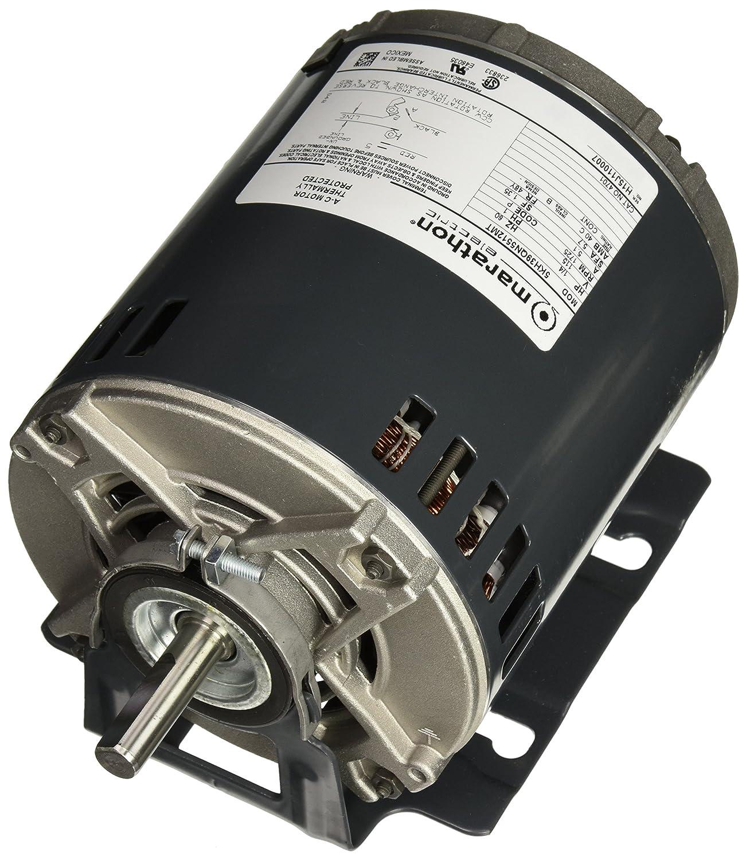 Marathon 4701 48Y Frame 5KH39QN5512T Open Drip Proof Belt Drive Motor, 1 Split Phase, Resilient Ring Mount, Sleeve Bearing, 1/4 hp, 1725 RPM, 1 Speed, 115 VAC