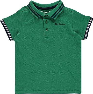 Palo de golf para niños Ben Sherman verde Polo de manga corta ...