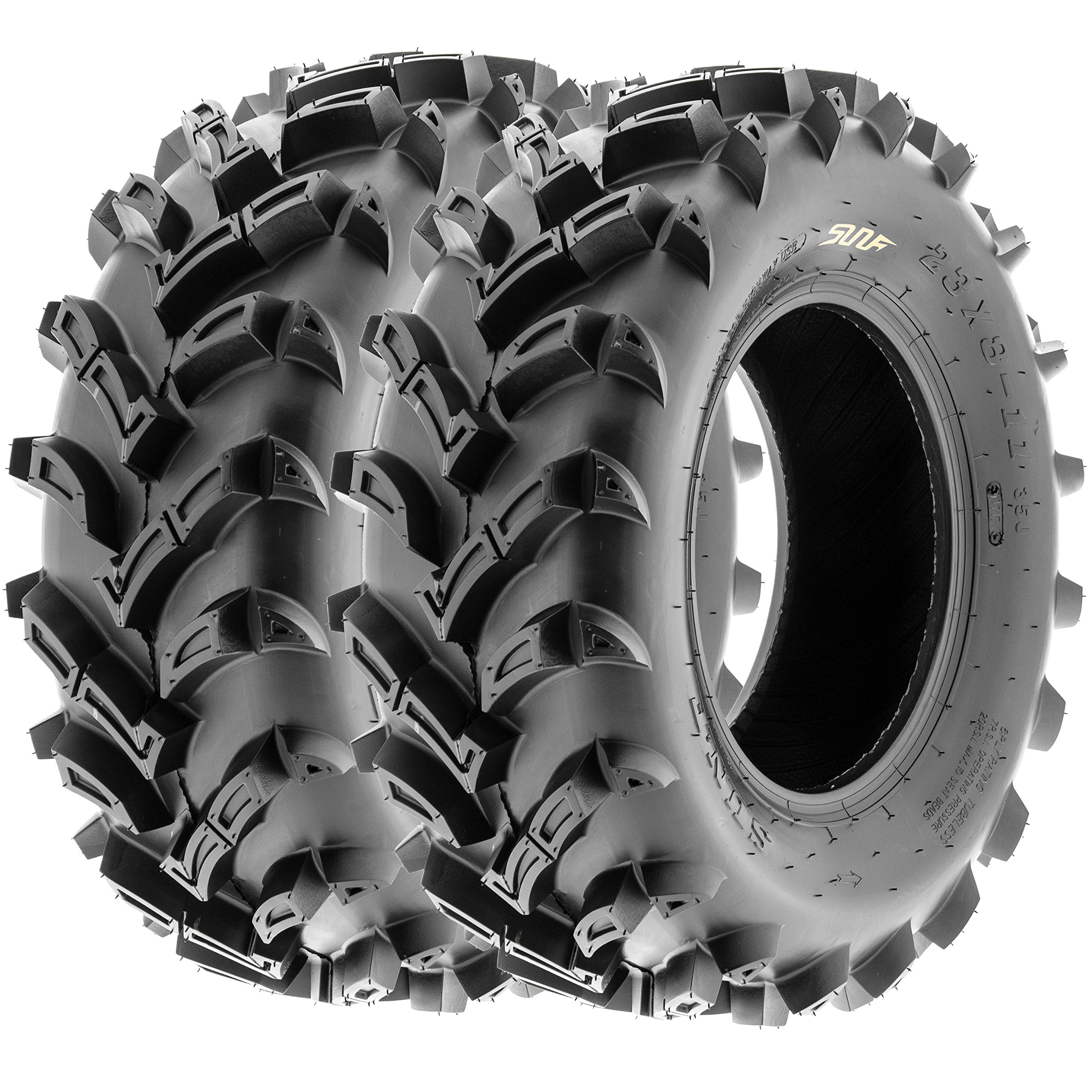 SunF ATV UTV Mud & All Terrain Tires 23x8-11 23x8x11 6 PR A024 (Set pair of 2)