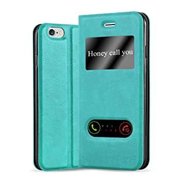 f1d386197dc Cadorabo Funda Libro para Apple iPhone 6 Plus/iPhone 6S Plus en Turquesa  Menta: Amazon.es: Electrónica