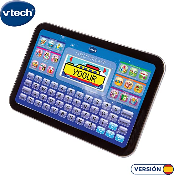 VTech Little App Tableta educativa Infantil con Pantalla LCD a Color, Juguete para aprender en casa con Contenido Especial para niños, Enseña
