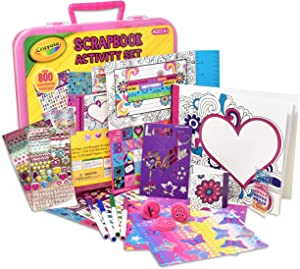 Crayola Art Activity Set, Mess Free Craft Kit for Kids, Washable Markers Coloring Supplies, Stickers, Scrapbook in Travel Carry Case