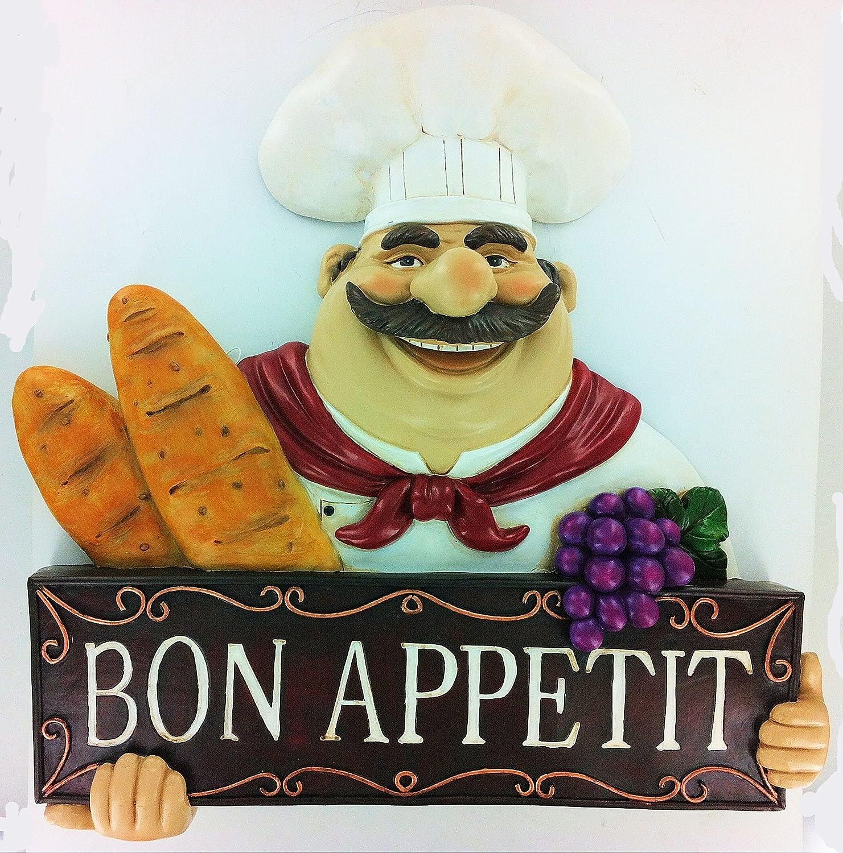 fat chef wall art kitchen bon appetit bistro cooking