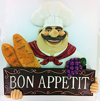 Fat Chef Wall Art Kitchen Bon Appetit Bistro Cooking